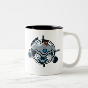 Justice League Action | Cyborg Character Art Two-Tone Coffee Mug