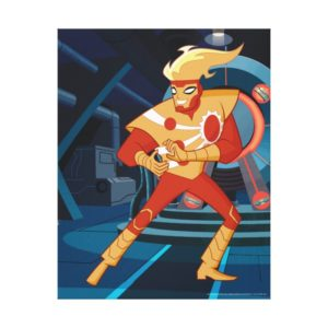 Justice League Action   Firestorm Character Art Canvas Print