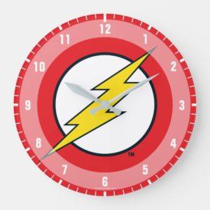 Justice League Action | Flash Lightning Bolt Logo Large Clock