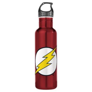 Justice League Action | Flash Lightning Bolt Logo Stainless Steel Water Bottle