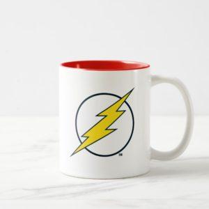 Justice League Action | Flash Lightning Bolt Logo Two-Tone Coffee Mug