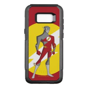 Justice League Action   Flash Over Lightning Bolt OtterBox Commuter Samsung Galaxy S8+ Case