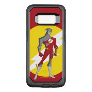 Justice League Action   Flash Over Lightning Bolt OtterBox Commuter Samsung Galaxy S8 Case
