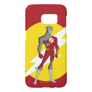 Justice League Action | Flash Over Lightning Bolt Samsung Galaxy S7 Case
