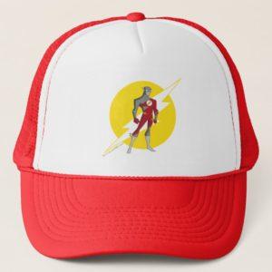 Justice League Action   Flash Over Lightning Bolt Trucker Hat