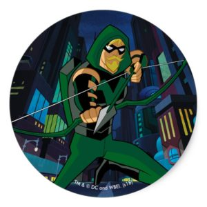 Justice League Action | Green Arrow Character Art Classic Round Sticker