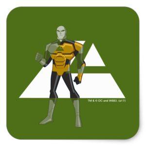 Justice League Action | Lex Luthor & Lexcorp Logo Square Sticker