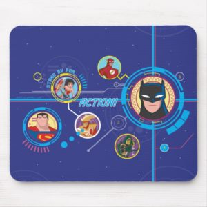 Justice League Action   Stand By For Action Mouse Pad