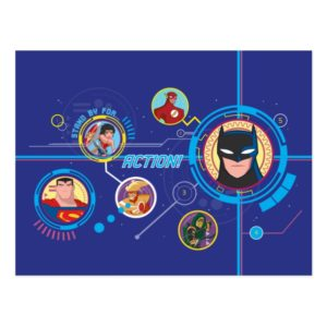 Justice League Action   Stand By For Action Postcard