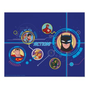 Justice League Action | Stand By For Action Poster