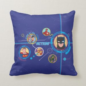 Justice League Action | Stand By For Action Throw Pillow