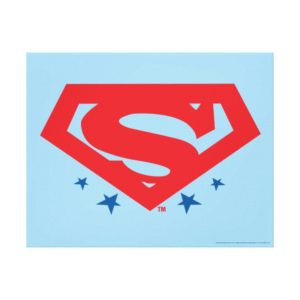 Justice League Action | Superman Logo Canvas Print