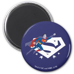 Justice League Action | Superman Over S-Shield Magnet