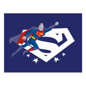 Justice League Action | Superman Over S-Shield Postcard