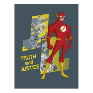 Justice League Action   Truth And Justice Postcard
