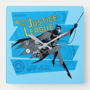 Justice League Action | We Are The Justice League Square Wall Clock