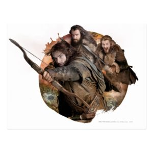 Kili, THORIN OAKENSHIELD™, and Fili Postcard