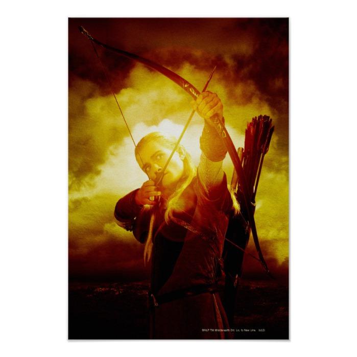 LEGOLAS GREENLEAF™ Shooting Arrow Poster - Custom Fan Art