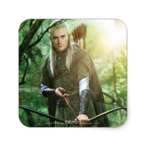 LEGOLAS GREENLEAF™ with bow Square Sticker