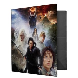LOTR Character Collage 3 Ring Binder