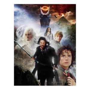 LOTR Character Collage Postcard