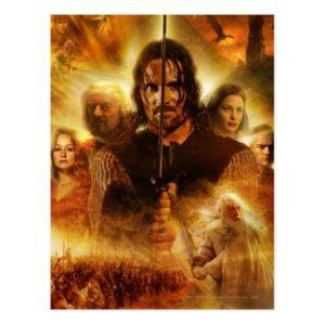 LOTR: ROTK Aragorn Movie Poster Postcard