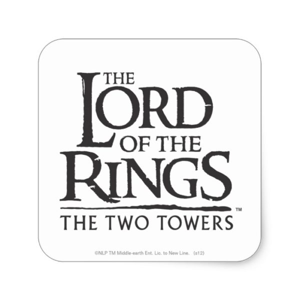 LOTR Stacked Logo Square Sticker
