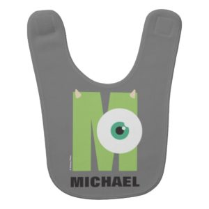 M is for Mike   Add Your Name Baby Bib