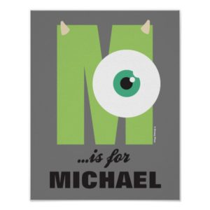 M is for Mike   Add Your Name Poster