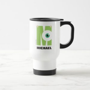 M is for Mike   Add Your Name Travel Mug