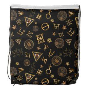 MACUSA™ Magic Symbols And Crests Pattern Drawstring Backpack