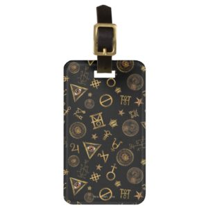 MACUSA™ Magic Symbols And Crests Pattern Luggage Tag