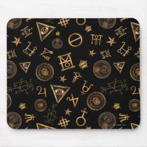 MACUSA™ Magic Symbols And Crests Pattern Mouse Pad