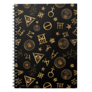 MACUSA™ Magic Symbols And Crests Pattern Notebook