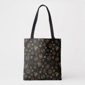 MACUSA™ Magic Symbols And Crests Pattern Tote Bag