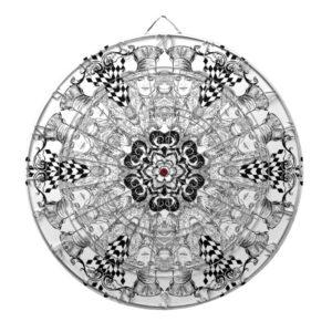 Mad Hatter Kaleidoscope Dart Board