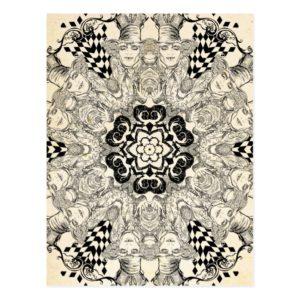Mad Hatter Kaleidoscope Postcard