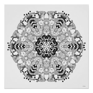 Mad Hatter Kaleidoscope Poster
