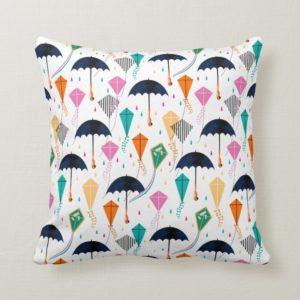 Magic Fills the Air Kite Pattern Throw Pillow