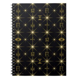 Magical Symbols Pattern Notebook