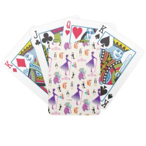 Mary Poppins & Friends Striped Pattern Bicycle Playing Cards