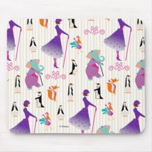 Mary Poppins & Friends Striped Pattern Mouse Pad