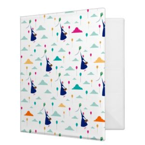 Mary Poppins | Magic Fills the Air Pattern 3 Ring Binder