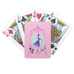 Mary Poppins & Penguins Bicycle Playing Cards