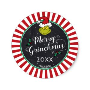 Merry Grinchmas | Grinch Holiday Party Classic Round Sticker