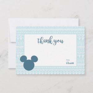 Mickey | Blue Aztec Baby Shower - Thank You