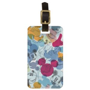 Mickey & Friends | Mouse Head Sketch Pattern Luggage Tag