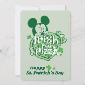 Mickey   Irish I had a Pizza Card