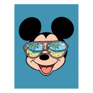 Mickey   Mickey Tropical Sunglasses Postcard
