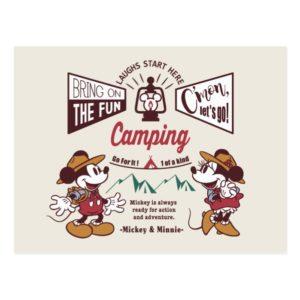Mickey & Minnie | C'mon Let's Go! Postcard
